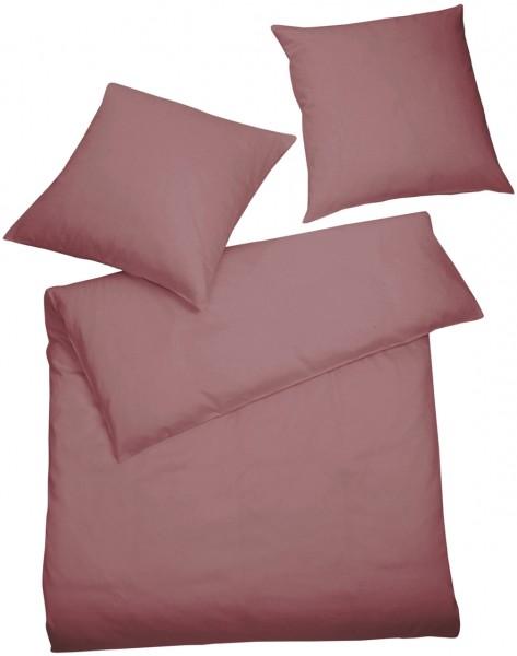 Interlock Jersey Bettwäsche Rosenholz Uni aus 100% Baumwolle