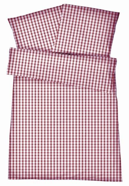 Mako-Perkal Bettwäsche 135x200 cm - Karos 1 - Lila aus 100% Baumwolle