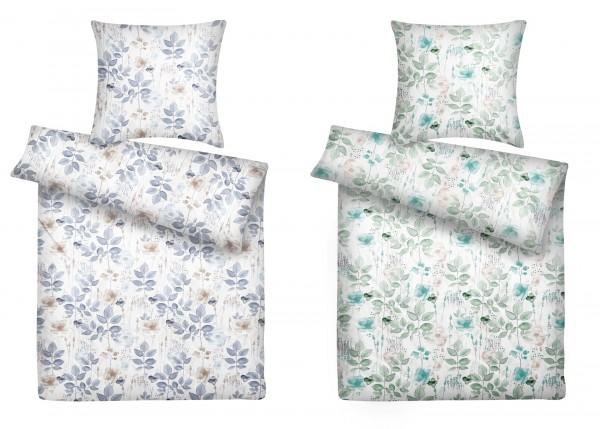 Biber Bettwäsche Blumen aus 100% Baumwolle