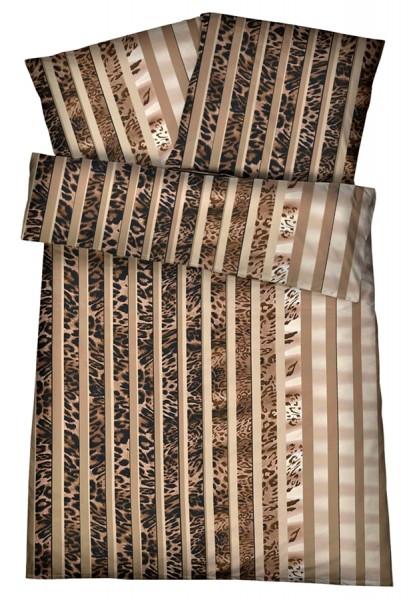 Interlock Jersey Bettwäsche Tierfell Braun aus 100% Baumwolle