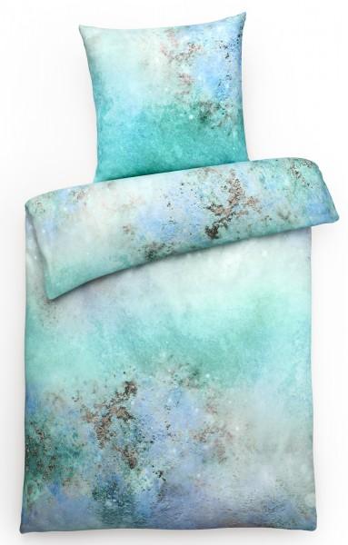 Mako Satin Bettwäsche Aqua Grün aus 100% Baumwolle