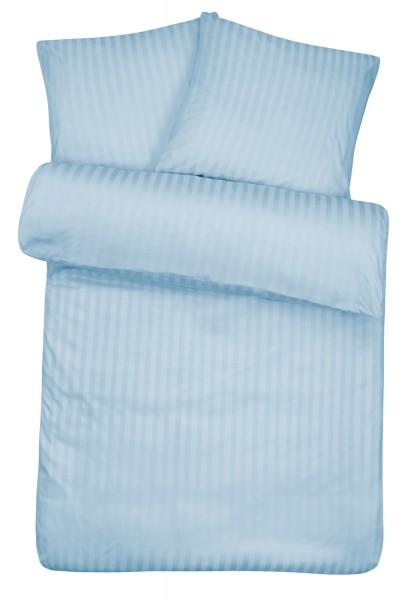Damast Bettwäsche Hellblau
