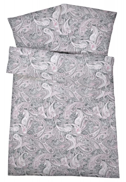 Biber Bettwäsche Rosa Muster aus 100% Baumwolle