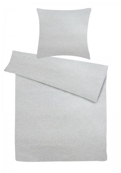 Biber Bettwäsche Melange Grau aus 90% Baumwolle, 10% Polyester