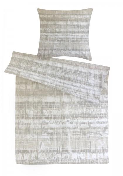 Biber Bettwäsche Muster Beige aus 100% Baumwolle