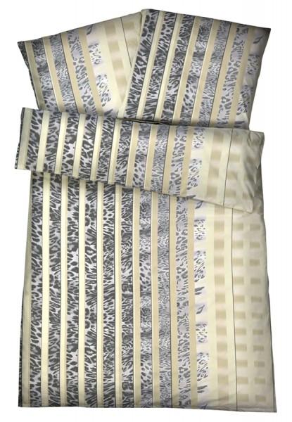 Interlock Jersey Bettwäsche Tierfell Creme aus 100% Baumwolle