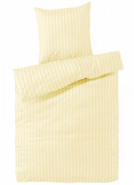 Damast Bettwäsche Creme aus 100% Baumwolle
