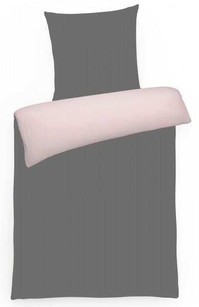 Biber Wende-Bettwäsche Uni aus 100% Baumwolle