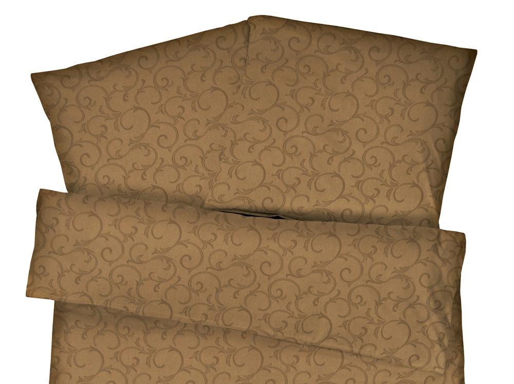 Damast Bettwäsche Ranke Braun Aus 100 Baumwolle