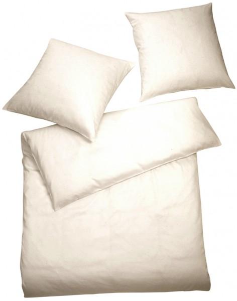 Interlock Jersey Bettwäsche Creme Uni aus 100% Baumwolle