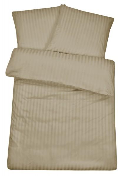 Damast Bettwäsche Schlamm aus 100% Baumwolle