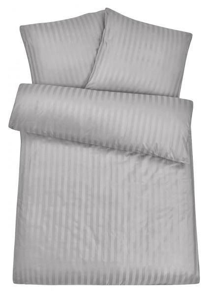 Damast Bettwäsche Hellgrau aus 100% Baumwolle