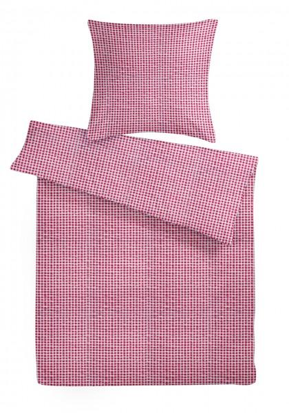 Seersucker Bettwäsche Züchen Rot aus 100% Baumwolle