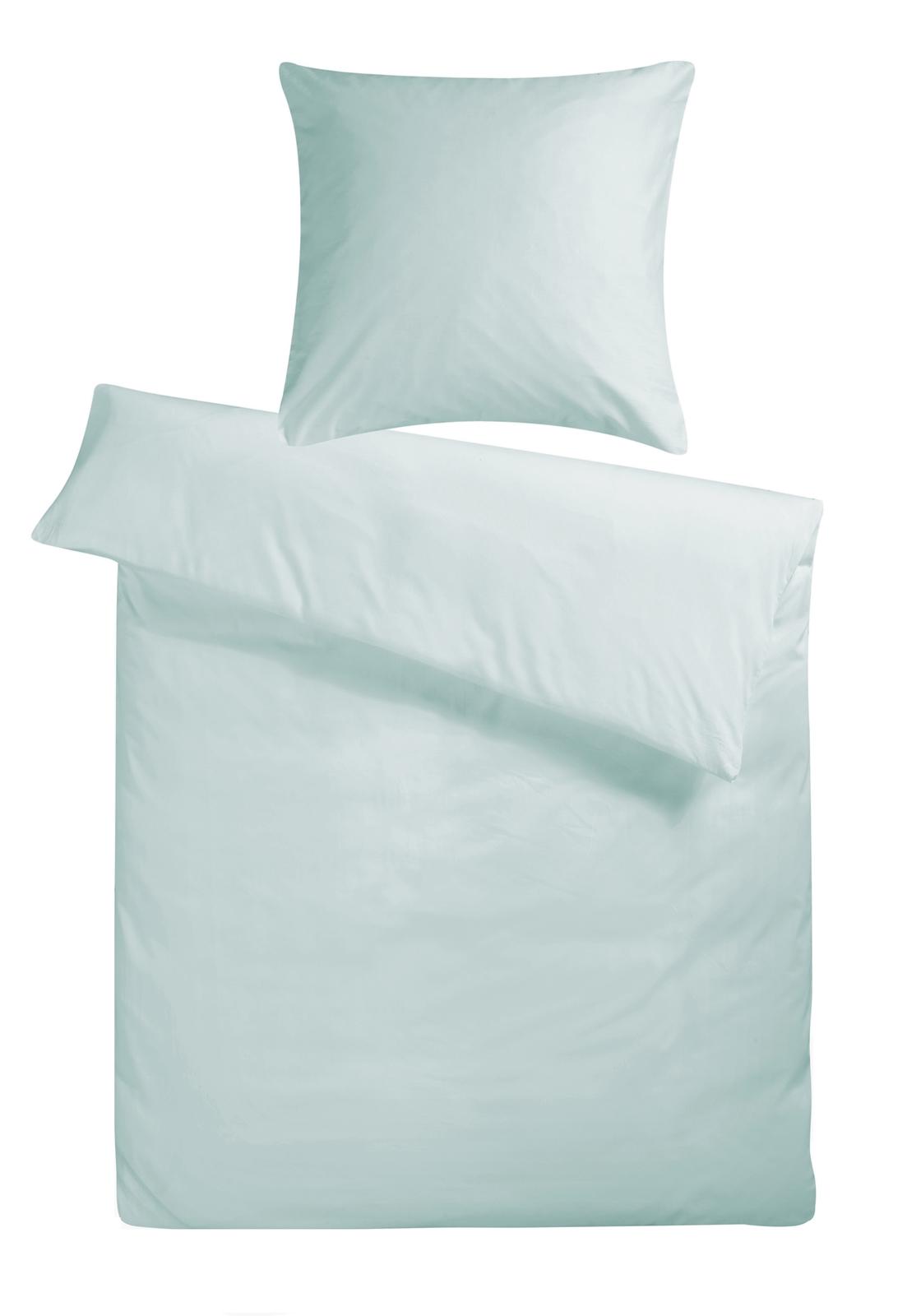 biber bettw sche gletscher blau uni aus 100 baumwolle. Black Bedroom Furniture Sets. Home Design Ideas