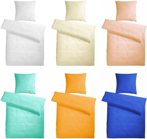Premium Seersucker Bettwäsche Uni aus 100% Baumwolle