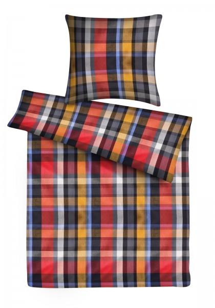 Biber Bettwäsche Rot Karo aus 100% Baumwolle