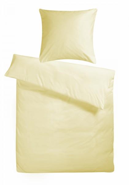 Biber Bettwäsche Creme Uni aus 100% Baumwolle