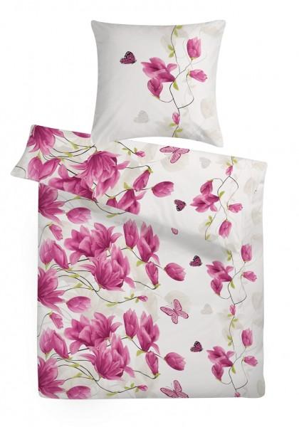 Biber Bettwäsche Blumen Muster aus 100% Baumwolle