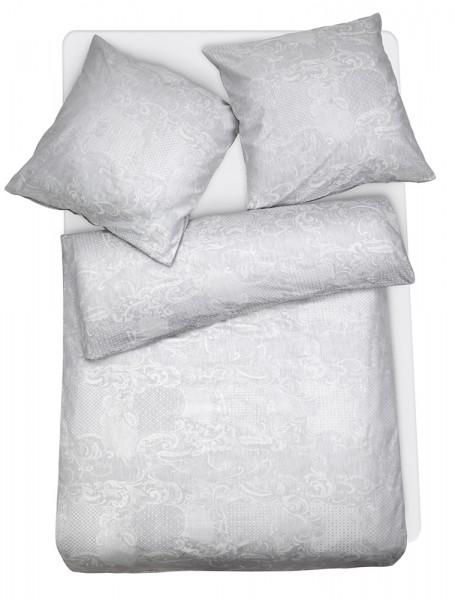Mako Brokat Damast Bettwäsche Ornamente aus 100% Baumwolle