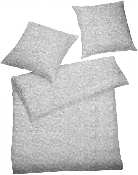 Interlock Jersey Bettwäsche Grau Melange aus 100% Baumwolle