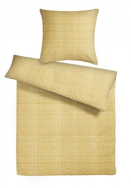 Seersucker Bettwäsche Züchen Gelb aus 100% Baumwolle