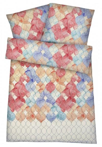 Damast & Mako-Satin Bettwäsche Wave aus 100% Baumwolle