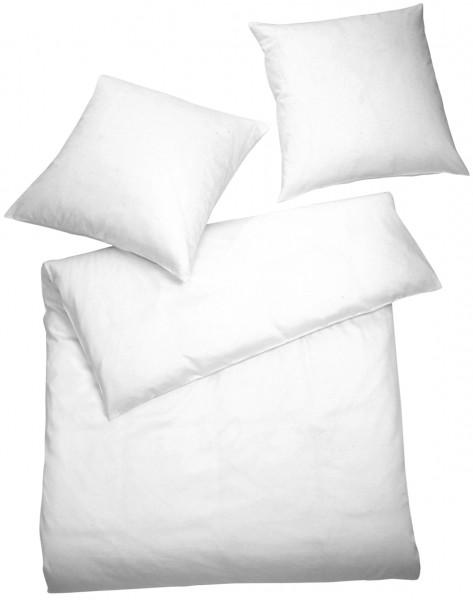 Interlock Jersey Bettwäsche Weiß Uni aus 100% Baumwolle