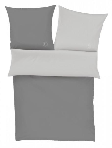 bugatti Wendebettwäsche Grau aus 100% Baumwolle