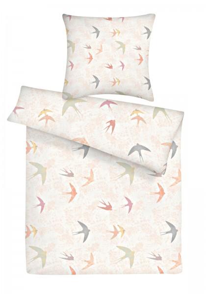 Biber Bettwäsche Vögel aus 100% Baumwolle