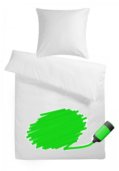 Mako Satin Bettwäsche zum selbst bemalen aus 100% Baumwolle