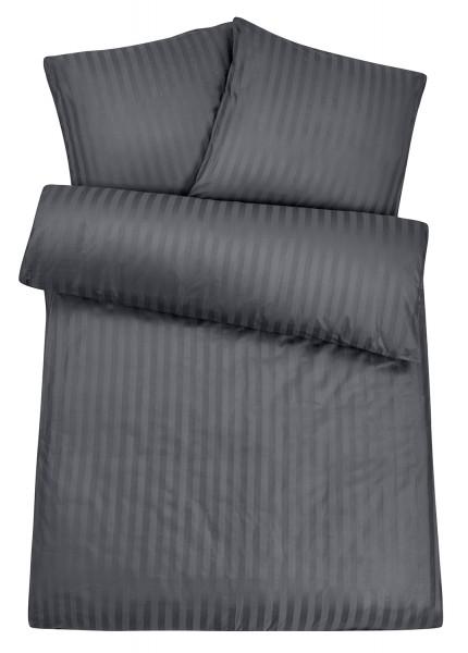 Damast Bettwäsche Grau
