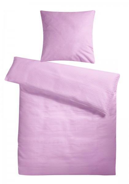 Seersucker Bettwäsche Rosa Uni aus 100% Baumwolle aus 100% Baumwolle
