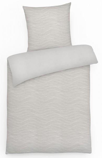 Biber Wende-Bettwäsche Wellen aus 100% Baumwolle