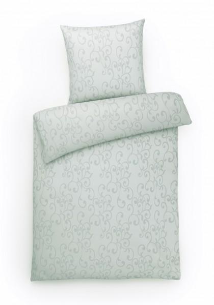 Damast Bettwäsche Ornamente Grau aus 100% Baumwolle