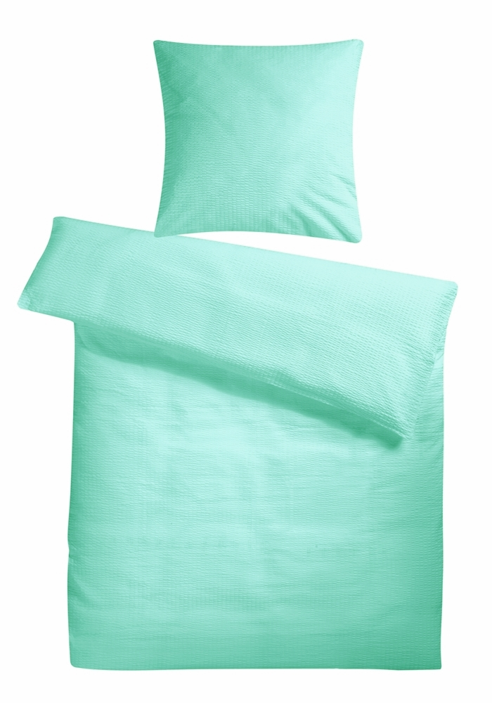 Carpe Sonno K/ühle super softe Seersucker Bettw/äsche Apricot Uni 135 x 200 cm Leichte Bettbez/üge ohne Muster aus 100/% gek/ämmter Baumwolle f/ür den Sommer Modern einfarbig Bettwaren-Garnitur