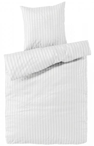 Damast Bettwäsche Weiß aus 100% Baumwolle