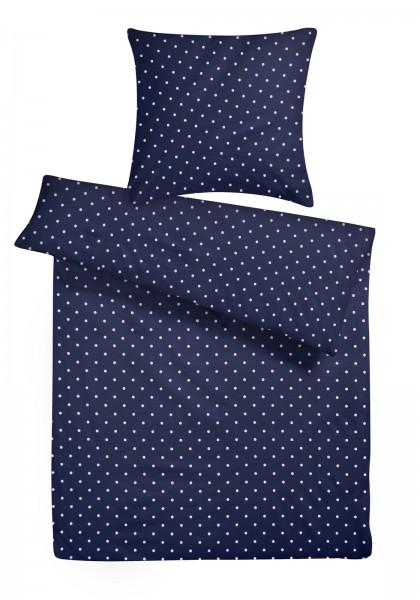 Mako-Perkal Bettwäsche 135x200 cm Punkte aus 100% Baumwolle